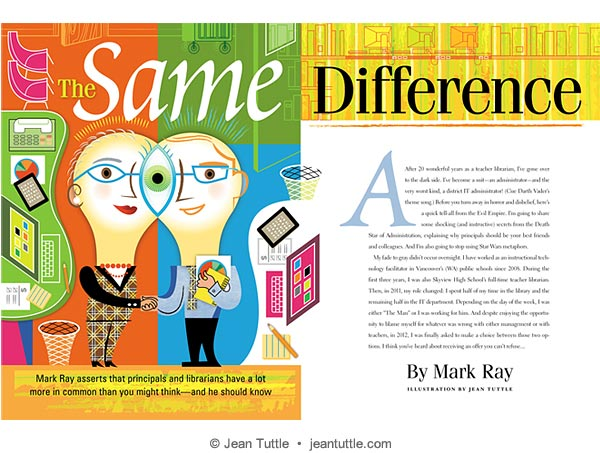 School Library Journal Spread