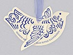 Dove Holiday Card Ornament