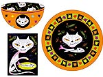 Kitty Skeleton Dish Set
